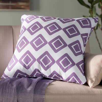 Doretta Modern Throw Pillow Size: 26 H x 26 W x 3 D, Color: Purple