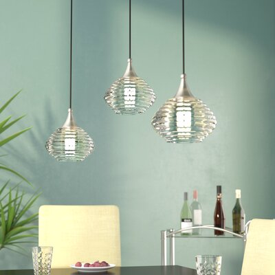 Bertie 1-Light Mini Pendant Finish: Brushed Nickel