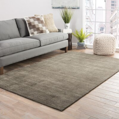 Elianna Hand-Loomed Dusty Olive Area Rug Rug Size: Rectangle 5 x 8