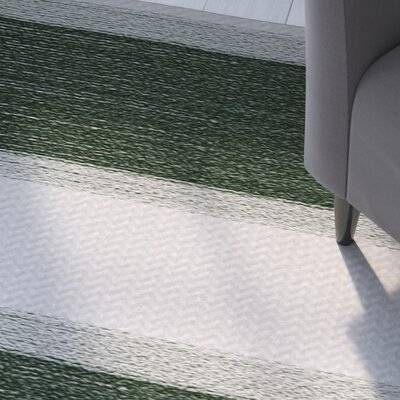 Addyson Stripe Print Green Indoor/Outdoor Area Rug Rug Size: Rectangle 3 x 5