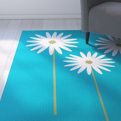 Omar Caribbean Blue Indoor/Outdoor Area Rug Rug Size: 5 x 7
