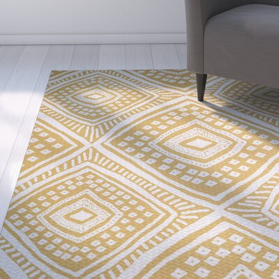 Abbie Beige/White Indoor/Outdoor Area Rug Rug Size: Rectangle 2 x 3