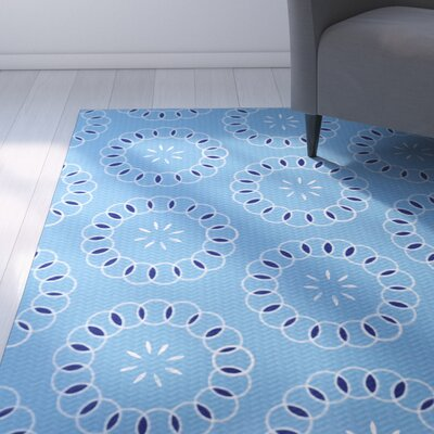 Alexis Floral Print Blue Indoor/Outdoor Area Rug Rug Size: 2 x 3