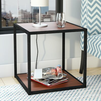 Claudette End Table Finish: Cherry / Black