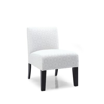 Aaliyah Ellipse Slipper Chair Upholstery: Ivory