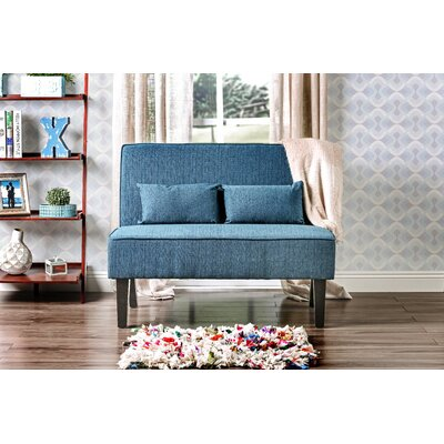 Joyce Contemporary Loveseat Upholstery: Teal