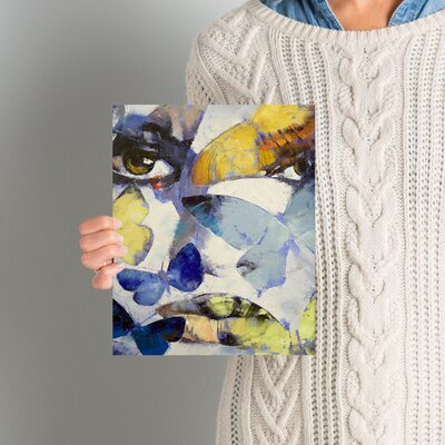 'Gothic Butterflies' Painting Print on Wrapped Canvas EBND7032 41001470
