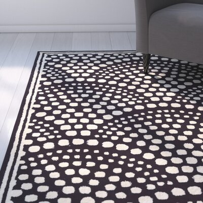 Carine Wool Scallop Hand-Tufted Navy Area Rug Rug Size: 8 x 11