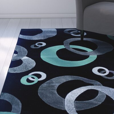 Carina Black/Seaglass Area Rug Rug Size: Rectangle 5 x 77