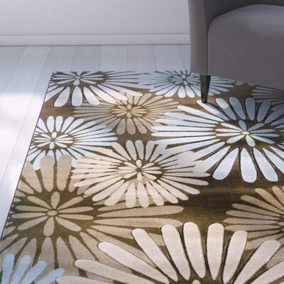 Carina Brown/Sand Area Rug Rug Size: Rectangle 8 x 103