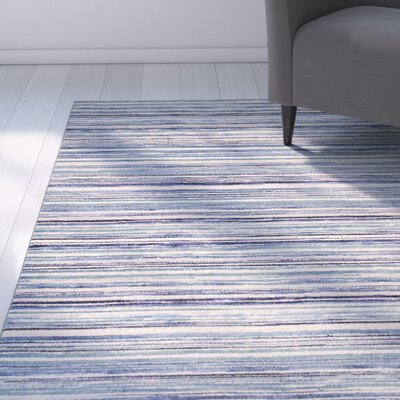 Karla Horizons Blue Area Rug Rug Size: 27 x 411