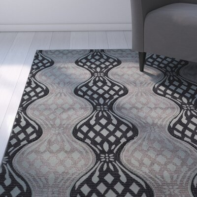 Cramden Black/Gray Area Rug Rug Size: Rectangle 5 x 77