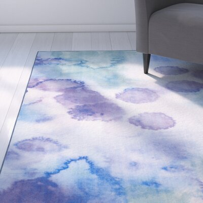 Darius Paint Brush Blue/Lavender Area Rug Rug Size: Rectangle 67 x 9
