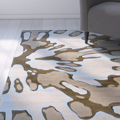 Carina Ivory/Brown Area Rug Rug Size: Rectangle 8 x 103
