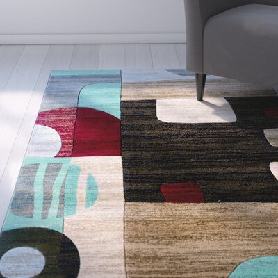 Carina Sand/Black Area Rug Rug Size: Rectangle 8 x 103