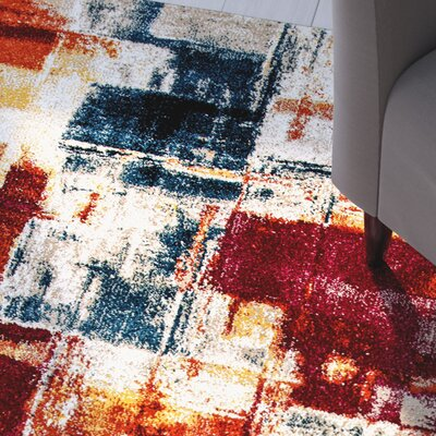 Donnellson Multi-Colored Area Rug Rug Size: 53 x 77