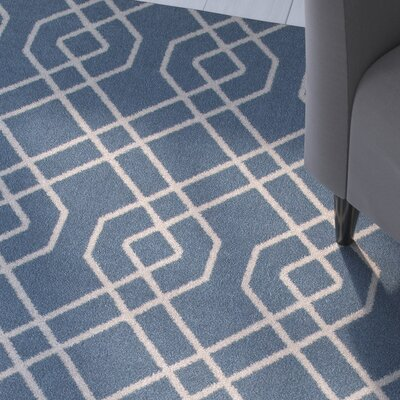 Penny Blue Area Rug Rug Size: 2 x 3