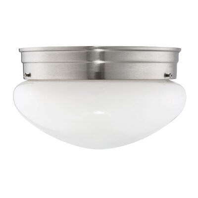 Archie 1-Light Flush Mount Finish: Satin Nickel