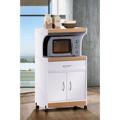 Blase Microwave Cart Base Finish: White-Beech