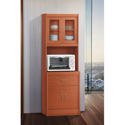 Blayze Standard China Cabinet Color: Cherry