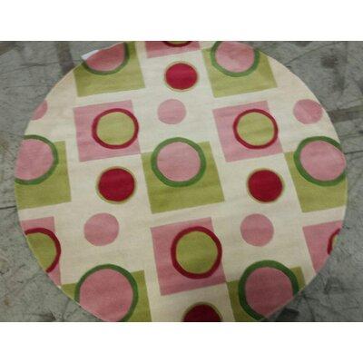 Estrada Pink Fizz Area Rug Rug Size: Round 56