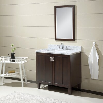Larabee 36 Single Sink Bathroom Vanity Set Base Finish: Dark Brown