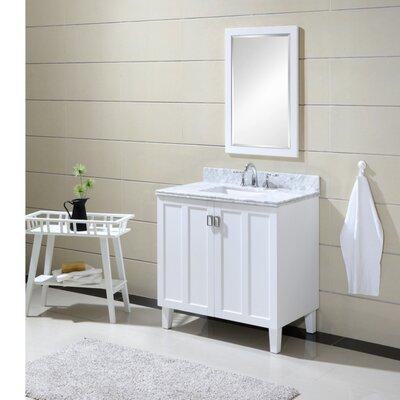 Larabee 36 Single Sink Bathroom Vanity Set Base Finish: White