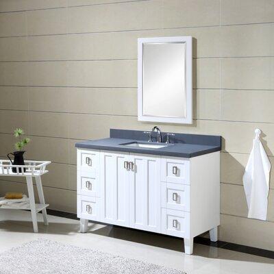 Lares 48 Single Bathroom Vanity Set Base Finish: White