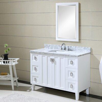 Larabee 48 Single Sink Bathroom Vanity Set Base Finish: White