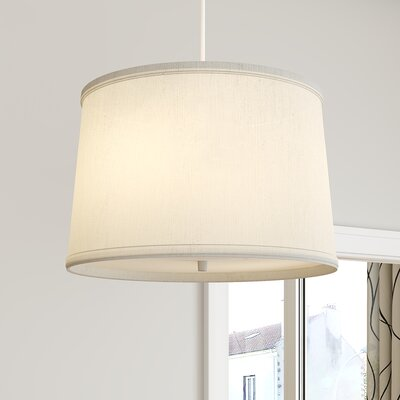 Dov 2-Light Drum Pendant Shade Color: Oatmeal, Size: 10 H x 16 W x 14 D