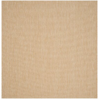 Mullen Natural/Cream Indoor/Outdoor Area Rug Rug Size: Square 67