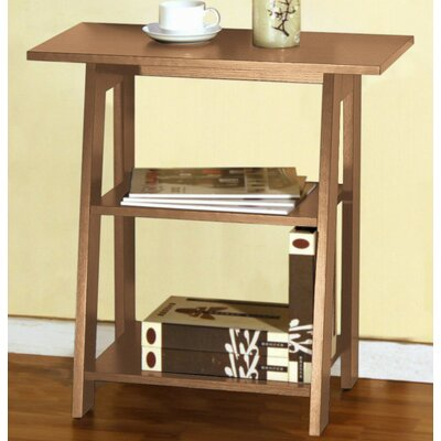 Goldie Ladder Chairside End Table Color: Weathered Light Oak