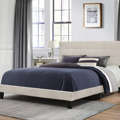 Decker Upholstered Panel Bed Size: King, Color: Fog