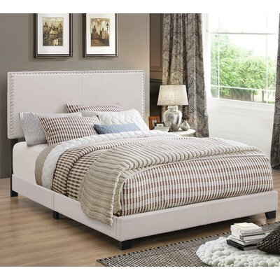 Amsbury Upholstered Panel Bed Size: Full, Upholstery: Brown