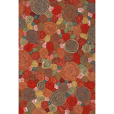 Derek Fiesta Giant Swirls Indoor/Outdoor Area Rug Rug Size: Rectangle 2 x 3