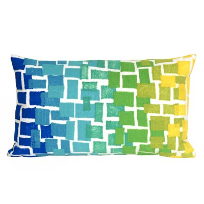 Palmira Ombre Tile Lumbar Pillow Color: Blue