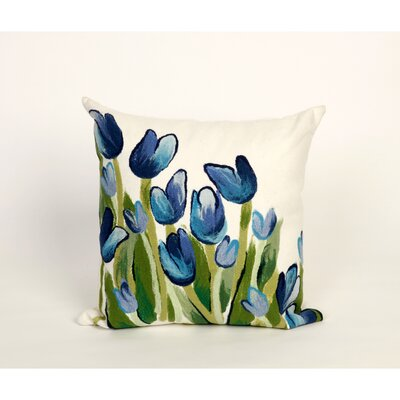 Zorski Allover Tulips Throw Pillow