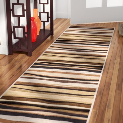 Nolan Brown Area Rug Rug Size: Runner 19 x 72