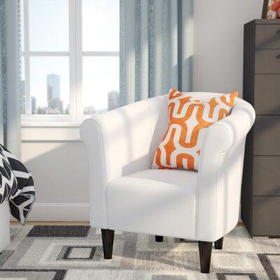Liam Barrel Chair Color: White