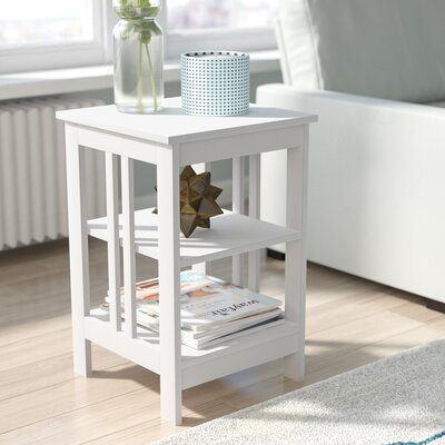 Cade End Table Finish: White