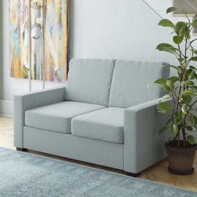 Gracie Loveseat Upholstery: Sky Blue