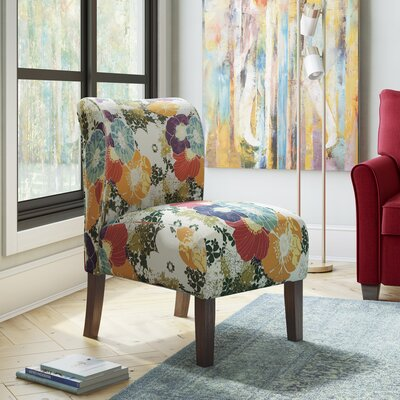 Weymand Floral Slipper Chair