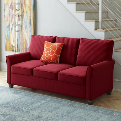 Hartell Sofa Upholstery: Red