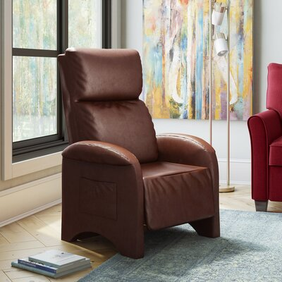 Baretta Leather Recliner Upholstery: Brown