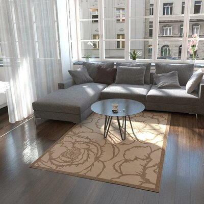 Souliere Beige Outdoor Area Rug Rug Size: Rectangle 4 x 6