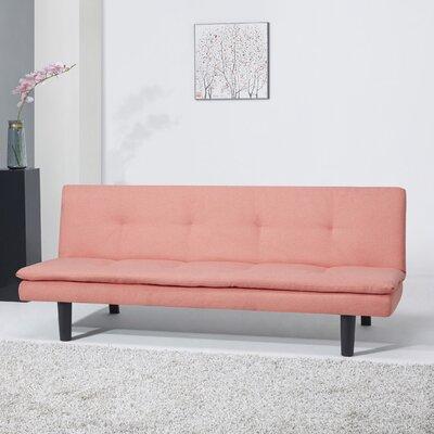 Martin Convertible Sleeper Sofa Upholstery: Coral