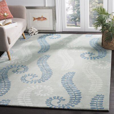 Andersen Silver / Light Blue Area Rug Rug Size: 6 x 9