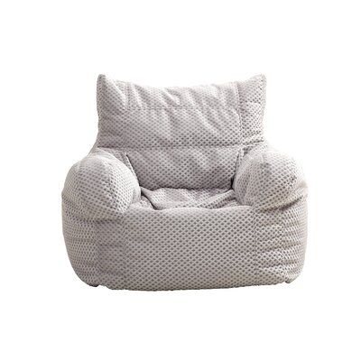 Small Polystyrene Bean Bag Chair Upholstery: Silver