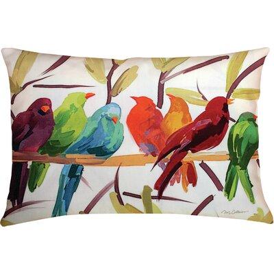 Beth Flocked Together Birds Lumbar Pillow