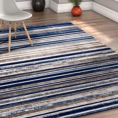 Chanell Blue Area Rug Rug Size: 311 x 57
